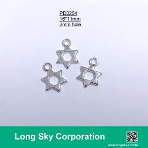 (#PD0254) 11mm Hexagonal star charms for trimming, garment and handcraft