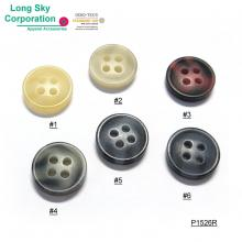 (#P1526R) 18L, 14L imitation horn rod polyester button for casual shirt