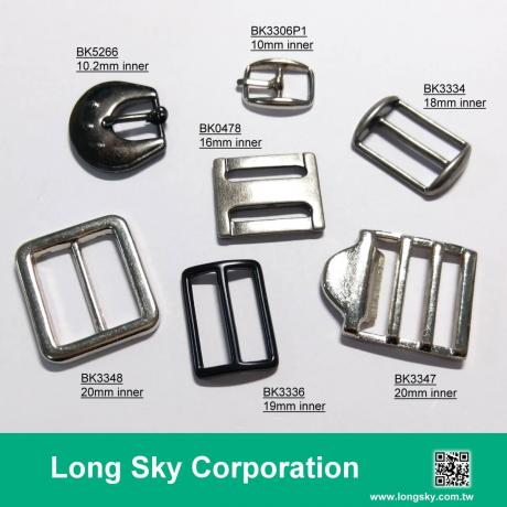 Small metal belt prong buckles for clothing