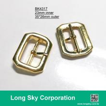 (#BK4317) 23mm inner gold metal prong buckle for belt