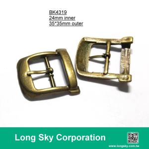 (#BK4319) 24mm inner metal prong buckle for leather belt