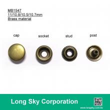 (#MB1547/11mm) brass material press snap button