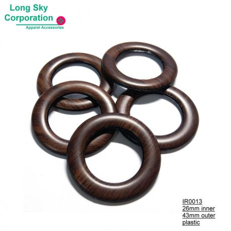 (#IR0013) 26mm inner wood pattern plastic ring