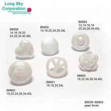 (B6658-B6664) spray pearl finish shank suit buttons